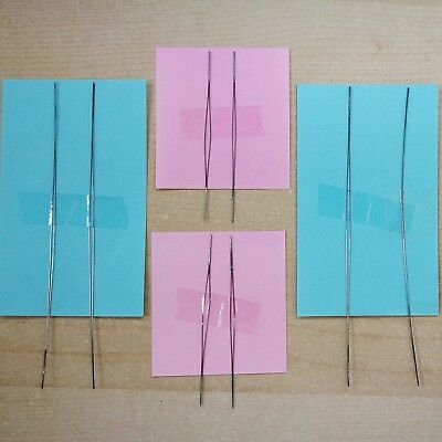Big Eye Needle Set  8X   Stainless Steel Soldered Ends