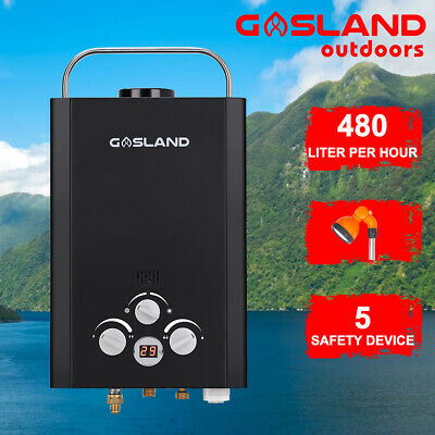 MADEMSA Gas Hot Water Heater LPG Outdoor Instant Portable Shower Camping System