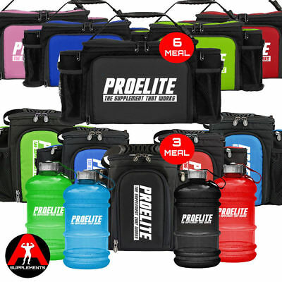 ProElite 2nd Gen- 3 or 6 Meal Food Prep Bag with Containers + FREE 2.2ltr Gallon
