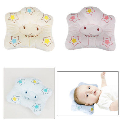 Newborn Sleeping Pillow Neck Support Cushion Anti-Flat Head Soft Pad Cot Bed UK