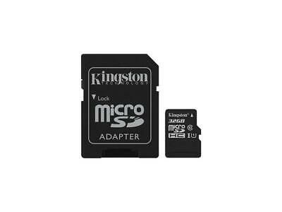 Kingston Canvas Select 32GB microSDHC Memory (Flash Memory) SDCS/32GBCR