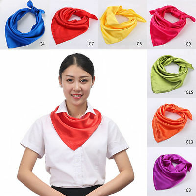 Soft Wrap Neck Women Headband 60*60cm Stylish Neckerchief Head Scarf Silk Square