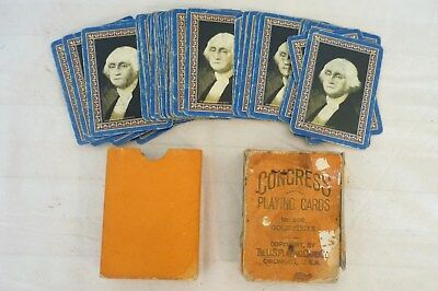 Antique/Vintage Congress Playing Cards 1900's Early Pack.