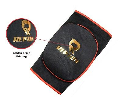 Knee Pad Elasticated Gel Padded Work Wear Protector Brace Shiny Heavy Duty MMA