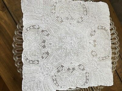 antique lace handkerchief