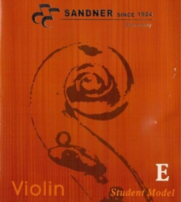 German Sandner Violin E string Steel Core for 3/4 and 4/4 Size