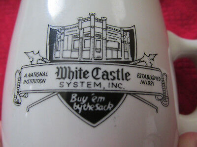 White Castle Coffee Mugs Pair of 2 Ashtray Bottom Vintage By The Sack