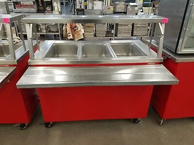 DELFIELD SHELLEYGLAS Three Well Portable Hot Pan Buffet Steam - Three well steam table