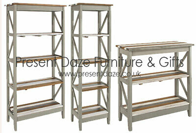 Premium Corona Solid Pine  - Vintage Occasional Range in White, Pine and Grey