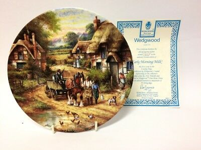 EARLY MORNING MILK By CHRIS HOWELLS - Wedgwood Country Days Collectors Plate