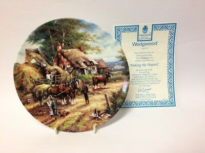 MAKING THE HAYRICK By CHRIS HOWELLS - Wedgwood Country Days Collectors Plate