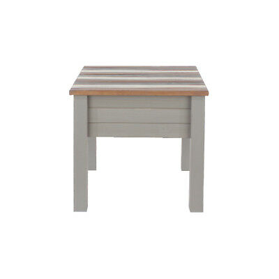Premium Corona Pine Vintage Lamp Table with Grey, White & Natural Pine Top