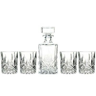 Marquis by Waterford Decanter and Set of Four Double Old Fashioned Glasses