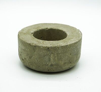 Grey Sealed Concrete Succulent Cacti Planter Big Tea Light Holder Trinket Bowl