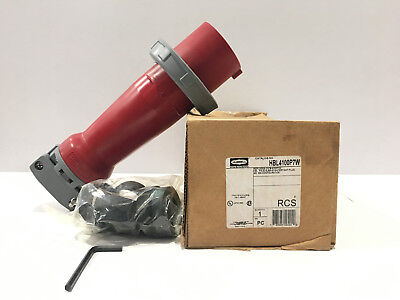 *NEW IN BOX*  HUBBELL HBL4100P7W 100-Amp PIN&SLEEVE PLUG 4100P7W 100A 480V 3P 4W