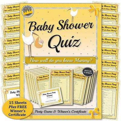 BABY SHOWER PARTY GAME: How well do you know Mummy Quiz? A fun idea for parties.
