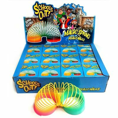 Giant Magic Rainbow Spring Slinky Walks Down Stairs Reimagined Retro Classic Kid