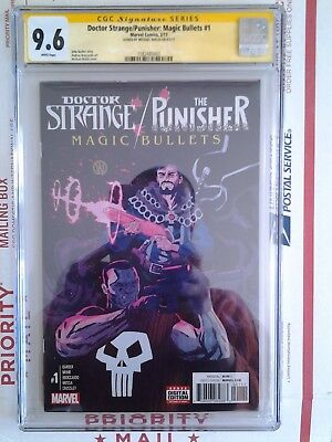 Doctor Strange The Punisher Magic Bullets #1 Cgc Ss 9.6 Signed By Michael Walsh