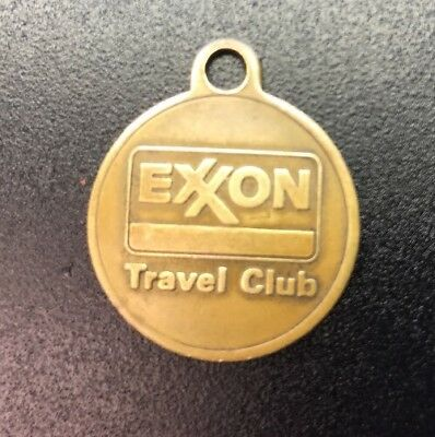 Exxon Travel Club Brass key ring token!  Serial Numbered! 26 mm, 5.8 grams!