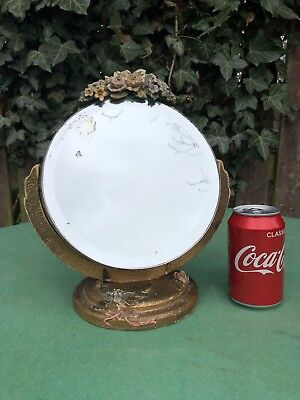 Stunning 1920's English Floral Barbola Dressing Table Mirror