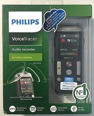 Philips Speech Voice Tracer with 2 Mic Stereo Recording