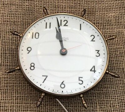 Smiths Sectric Electric Maritime Style Wall Clock - Untested
