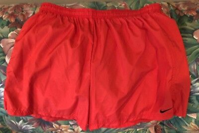NIKE Running Shorts Size Large Nike Solid Red Inner Liner RN #56323