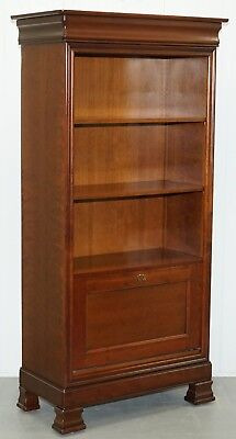 Simon Horn Of Chelsea Cherry Wood Bookcase Drinks Cabinet Shelving Secretary