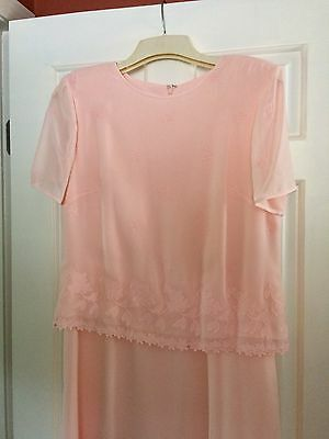 Talbots Size 12 Peach Mother Of Bride/Groom, Worn Once, Free Ship!