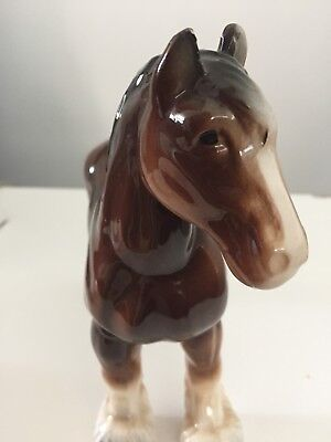 Vintage Ceramic Horse Figurine • Nice High Gloss Finish • Purchased In England