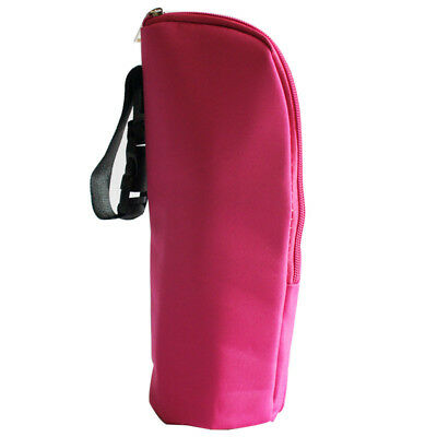 Insulated Baby Bottle Holder Carrier Thermal Bag With Hanging Strap Pink