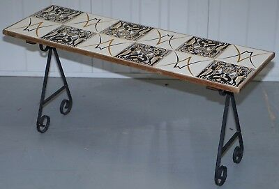 Egyptian Tiled Coffee / Side Table Or Bench, Nicely Designed & Styled Piece