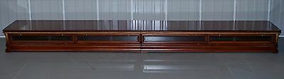 Rrp £6800 Hand Made Solid Mahogany 3.6 Meter Wide Cinema Tv Media Room Stand