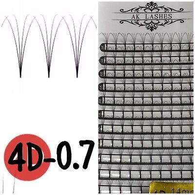 AK LASHES 4D  0.7mm  Pre Made Volume Fans Russian Individual Eyelash Extensions
