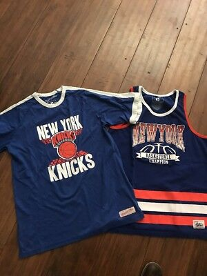 bcb75e9d NEW YORK KNICKS Mitchell & Ness Mens Hoodie size L 100% Authentic ...