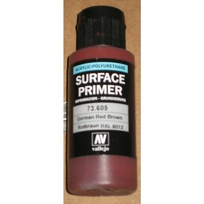 VAL73605 Vallejo Acrylic Polyurethane Primer German Red Brown (RAL 8012) 60ml