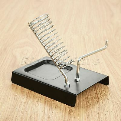 "Soldering Iron Stand 5.04""*3.54"" Metal Bottom Iron Two Grid Electric Irons Rack"