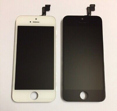 Genuine Real Apple Original LCD Screen Touch Digitizer iPhone SE 5S Black White