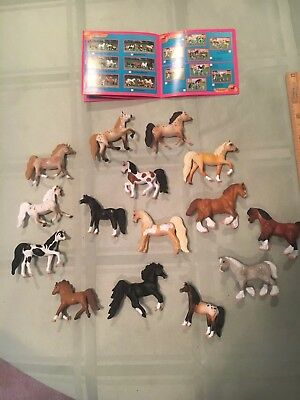 Micro Mini Grand Champion 2 inch Horse Lot Of 15!