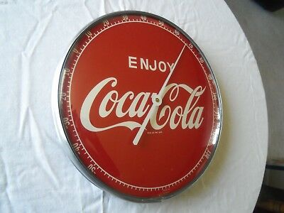 Vintage Enjoy Coca Cola Advertising Thermometer, 12 Inches, Mint Condition
