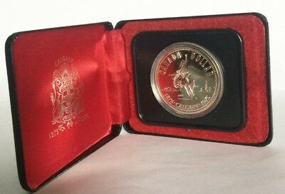 1975 Calgary Canada Silver Dollar With Box Exact Shown - Free Shipping