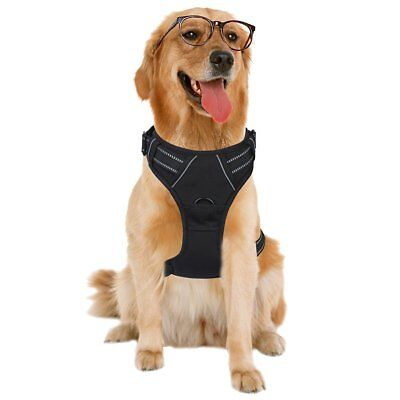 Dog Harness No-Pull Pet Harness Adjustable Outdoor Pet Vest 3M Reflective Oxford