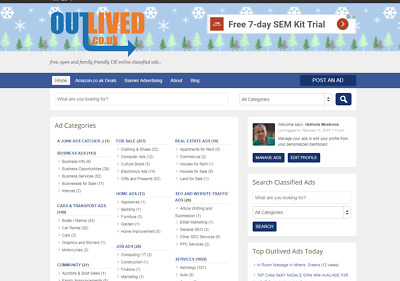 Old, family friendly UK classifieds website living its own life - Outlived.co.uk