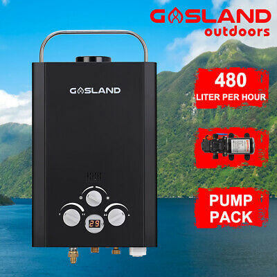 MADEMSA Gas Hot Water Heater Portable Shower Camping LPG Outdoor Instant 4WD