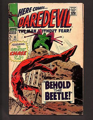 """Daredevil #33  Oct 1967 """"Behold......The Beetle!""""  Silver Age comics"""