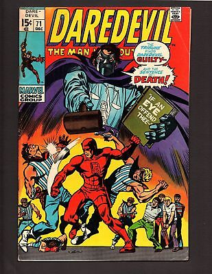 """Daredevil #71 Dec 1970 """" If An Eye Offend Thee...!"""""""