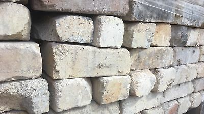 Industrial Style Chipped Feature Wall Pale Coloured Bricks - Price Is Per Brick