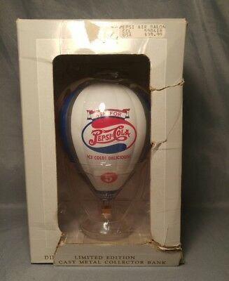 Pepsi Cola Die Cast Metal Hot Air Balloon Collector Bank Limited Edition NEW
