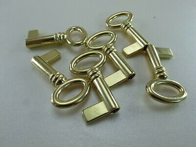 (6 pcs) Vintage Style Open Barrel Key Furniture Cabinet Wedding Pendants Charms