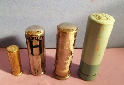 antique METAL LIPSTICK CASES vtg COLLECTOR COSMETIC LOT 1920-1940's old makeup